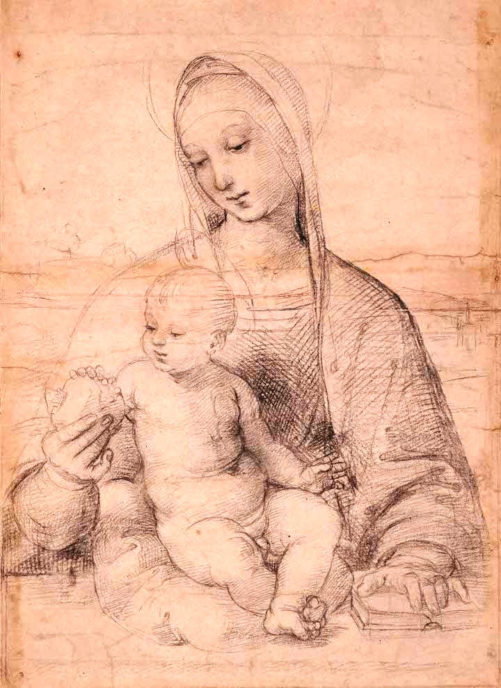 The Virgin with the Pomegranate (c. 1504), Raphael. © Albertina Museum, Vienna
