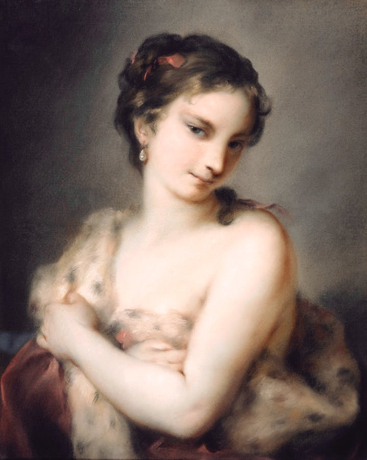 Winter (c. 1726), Rosalba Carriera. Royal Collection Trust/(c)Her Majesty Queen Elizabeth II 2016
