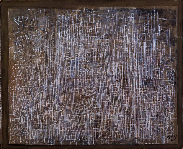 Lines of the City (1945), Mark Tobey. © 2017 Mark Tobey / Seattle Art Museum, Artists Rights Society (ARS), New York
