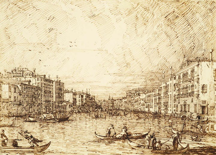 The Central Stretch of the Grand Canal (c. 1734), Canaletto. Royal Collection Trust/(c)Her Majesty Queen Elizabeth II 2016