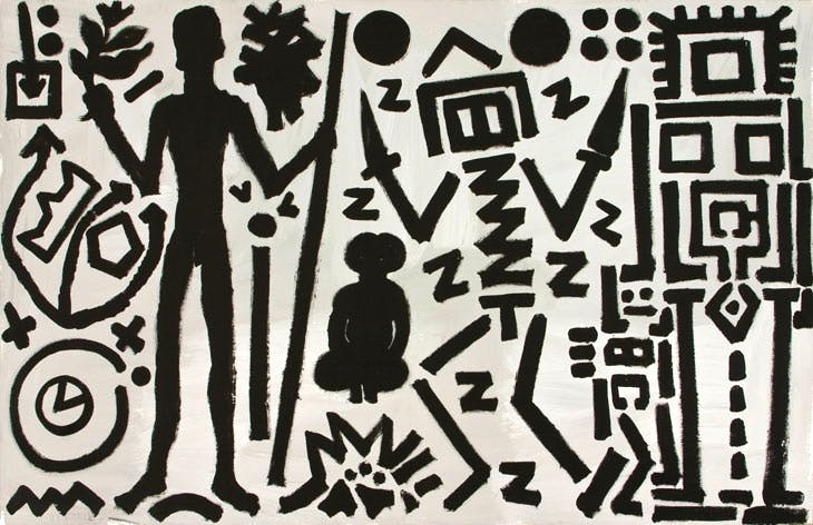 Welt des Adlers IV(Eagle's World IV) (1981), A.R. Penck. Courtesy Michael Werner Gallery, New York and London