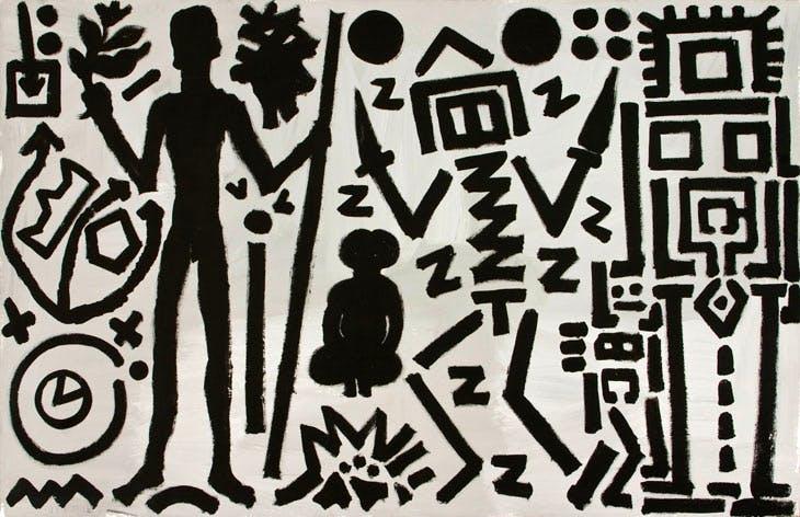 Welt des Adlers IV(Eagle's World IV) (1981), A.R. Penck. Courtesy Michael Werner Gallery, New York and London