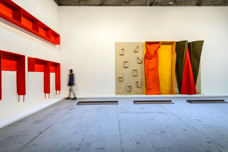 A selection of works by Franz Erhard Walther dating from 1975–86, on display at 'Viva Art Viva', at the Venice Biennale. Photo: Andrea Avezzù