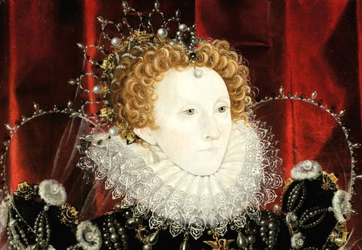 Queen Elizabeth I (1533–1603) (1576–78), attributed to Nicholas Hilliard.