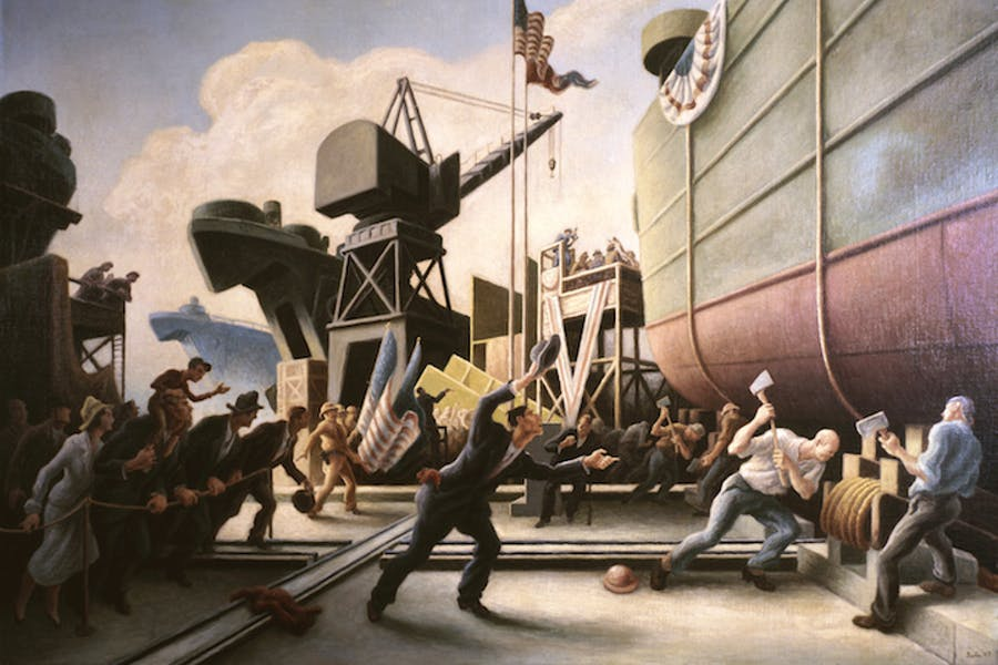 Cut the Line (1944), Thomas Hart Benton. Image courtesy of the Navy Art Collection, Naval History and Heritage Command, Washington, D.C.