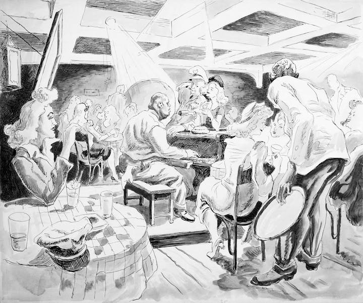 Time Out From War (1943), Thomas Hart Benton. Image courtesy of the Navy Art Collection, Naval History and Heritage Command, Washington, D.C.