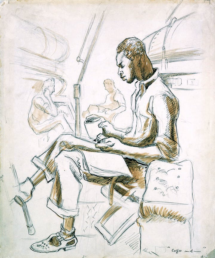 Coffee and Chow (1944), Thomas Hart Benton. Image courtesy of the Navy Art Collection, Naval History and Heritage Command, Washington, D.C.