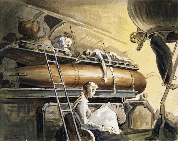 Slumber Deep (1944), Thomas Hart Benton. Image courtesy of the Navy Art Collection, Naval History and Heritage Command, Washington, D.C.