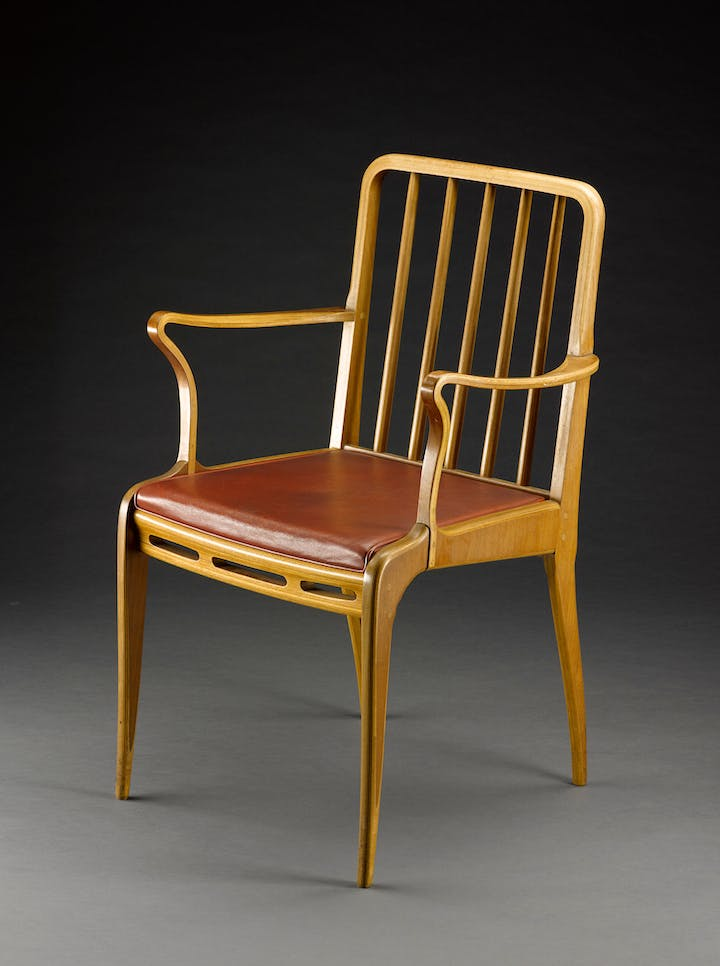 One of six chairs from the Allegro dining suite designed by Sir Basil Spencer in 1949. © National Museums Scotland