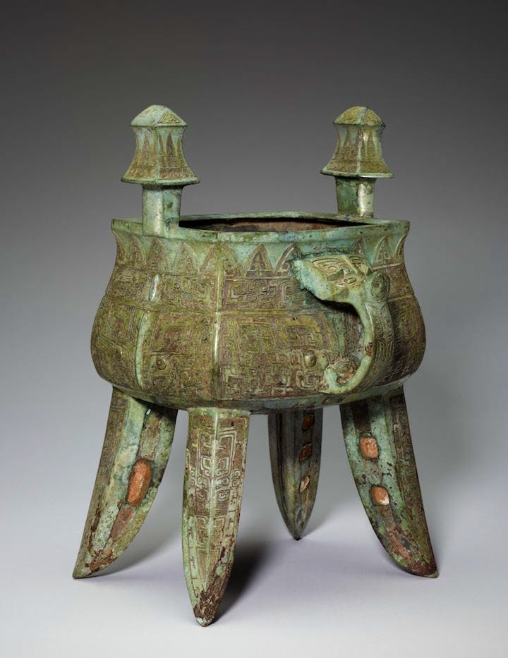 Fangjia Wine vessel, late Shang dynasty (c.1300-1046 BCE), bronze. Photo: Minneapolis Institute of Art