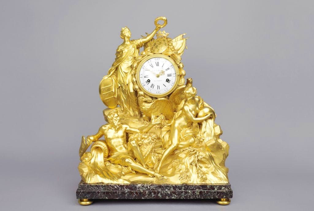 The Avignon Clock (1771), designed by Louis-Simon Boizot; case made by Pierre Gouthière. The Wallace Collection, London