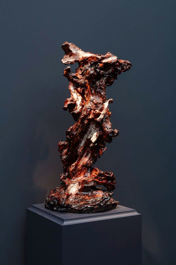 Crocifisso (Crucifix), , (1947–48; fired in 1949), Lucio Fontana. Robilant + Voena (price on application).