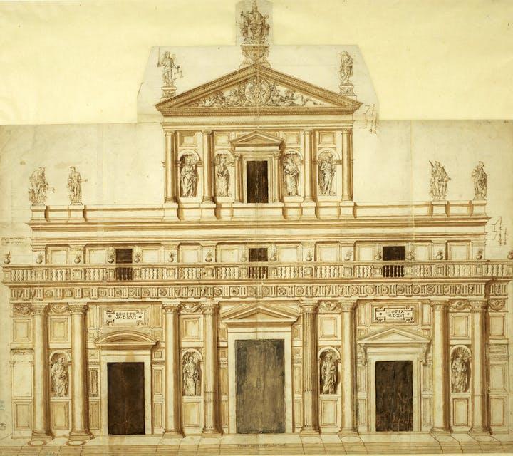 Progetto per San Lorenzo a Firenze, Giuliano da Sangallo (c. 1445–1516). Gallerie degli Uffizi