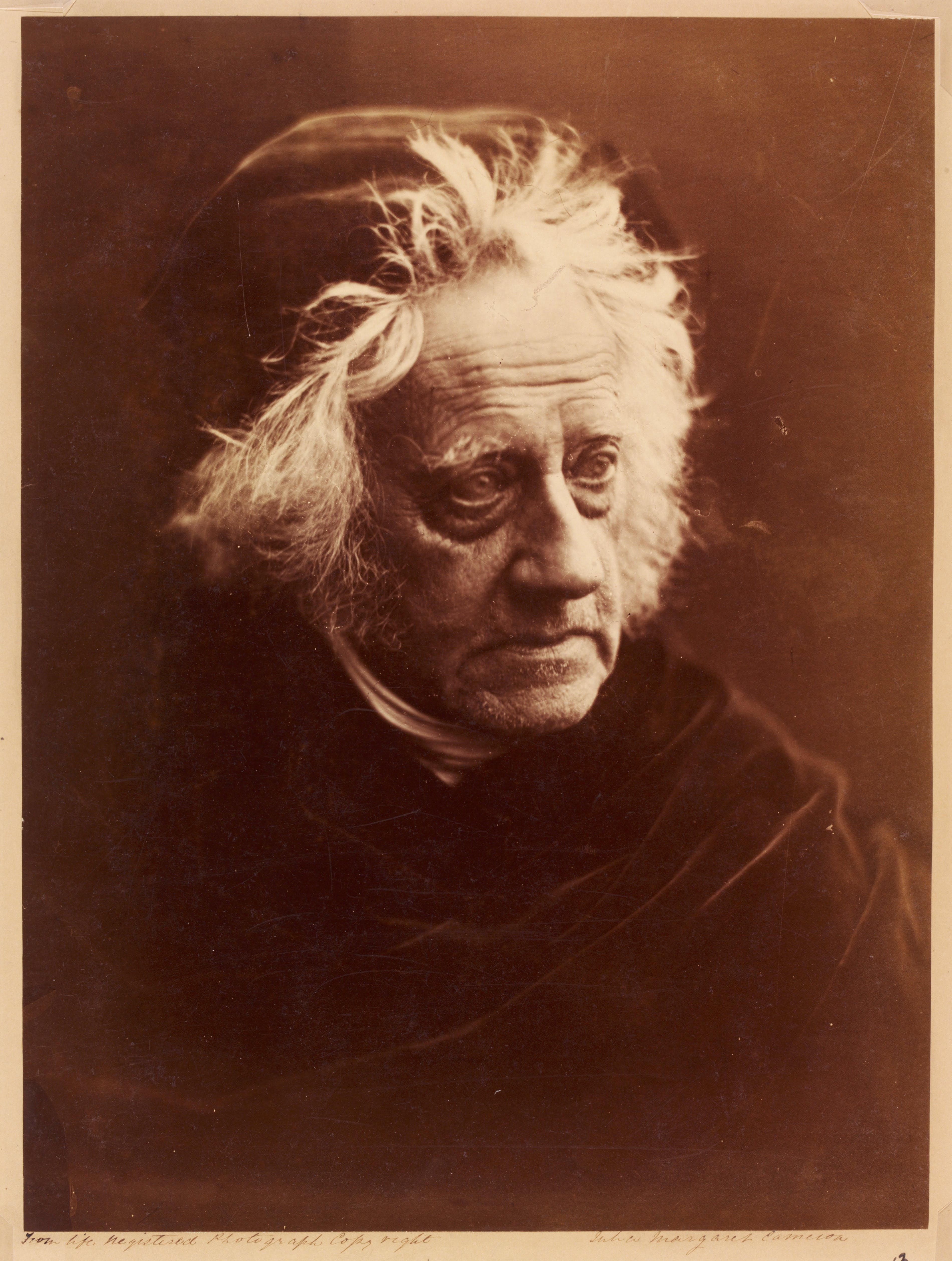John Frederick William Herschel, (1867), Julia Margaret Cameron. Victoria and Albert Museum