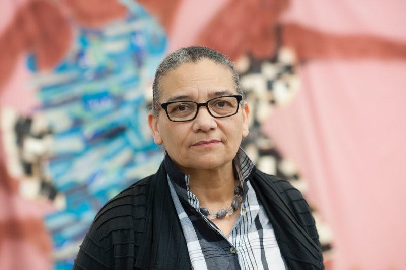 Lubaina Himid, one of two nominees for the 2017 Turner Prize who would not previously been eligible for the award.