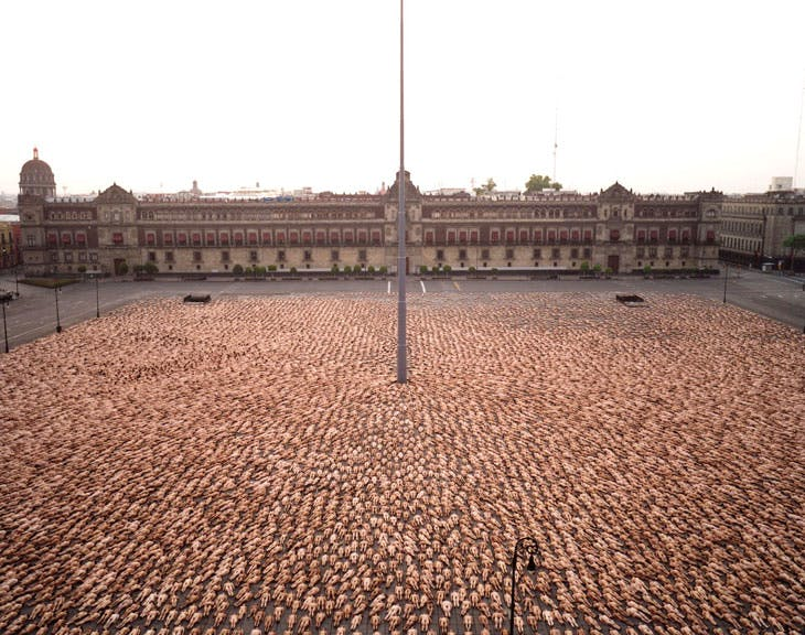 Mexico City 3 (Zócalo, MUCA/UNAM, 2007), Spencer Tunick