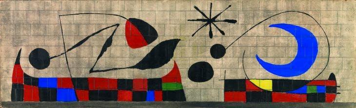 Mur de la Lune (Wall of the Moon), 1955), Joan Miró. Dickinson Roundell