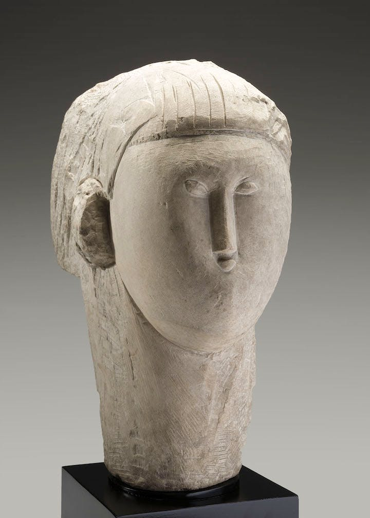 Head (c. 1913), Amedeo Modigliani. Courtesy of Kimbell Art Museum