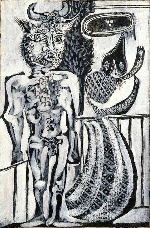 Minotaure et femme (1937), Pablo Picasso. Photo: courtesy the collector; Courtesy Gagosian; © 2017 Estate of Pablo Picasso / Artists Rights Society (ARS), New York