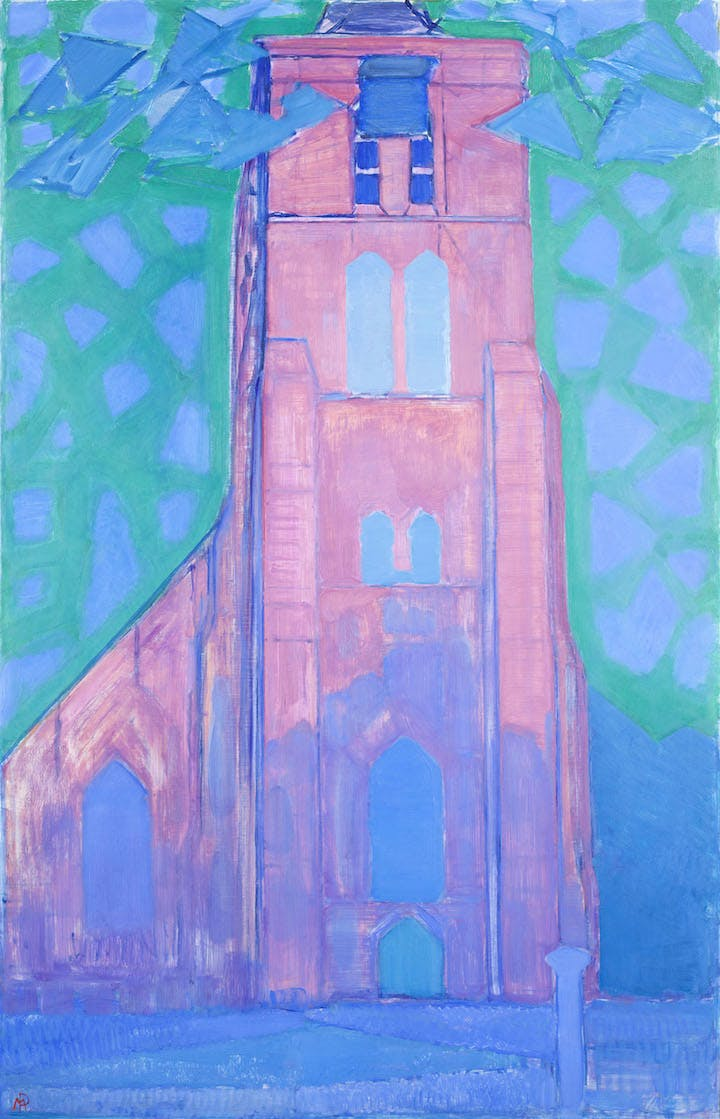 Church Tower at Domburg (1911), Piet Mondrian. Courtesy of the Gemeentemuseum Den Haag