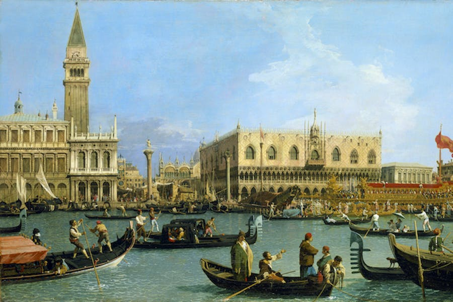 The Bacino di S. Marco on Ascension (c.1733-4), Canaletto. Royal Collection Trust/(c)Her Majesty Queen Elizabeth II 2016