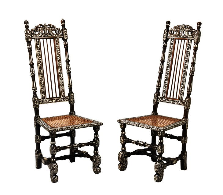 Two side chairs (c. 1710). H. Blairman & Sons, £48,000 (the pair)