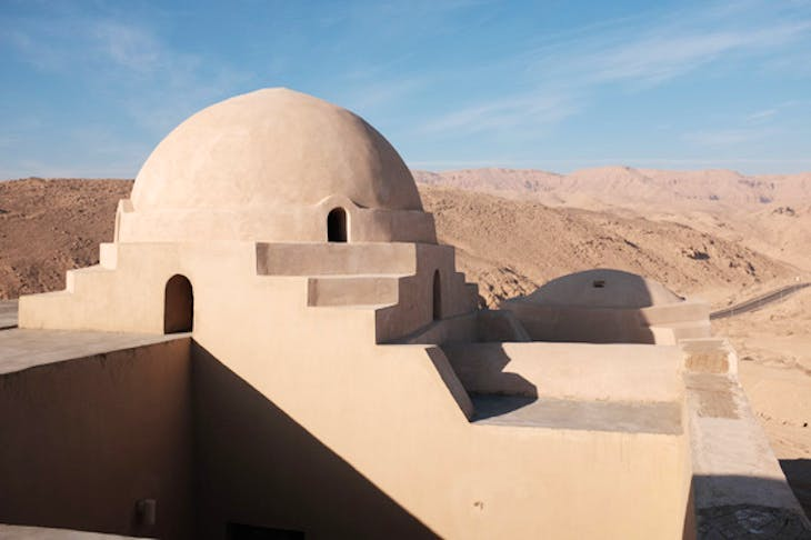 The restored dome at Stoppelaëre House, Luxor