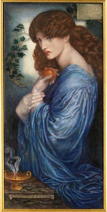 Proserpine (1878), Dante Gabriel Rossetti. Agnew's, price on application