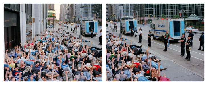 Sex Drive, NYC (diptych, 1999), Spencer Tunick.