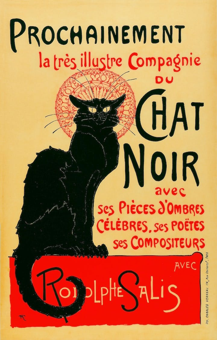 The Very Illustrious Company of the Chat Noir (1896), Théophile–Alexandre Steinlen. Private collection