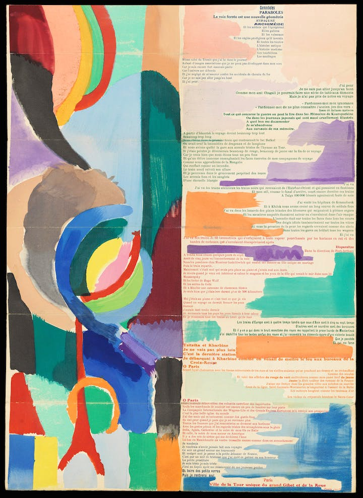 La Prose du Transsibérien et de la Petite Jehanne de France (detail; 1913), Sonia Delaunay. Courtesy of the Los Angeles County Museum of Art