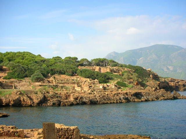 The Unesco World Heritage Site of Tipasa in Algeria. Photo: Wikimedia Commons