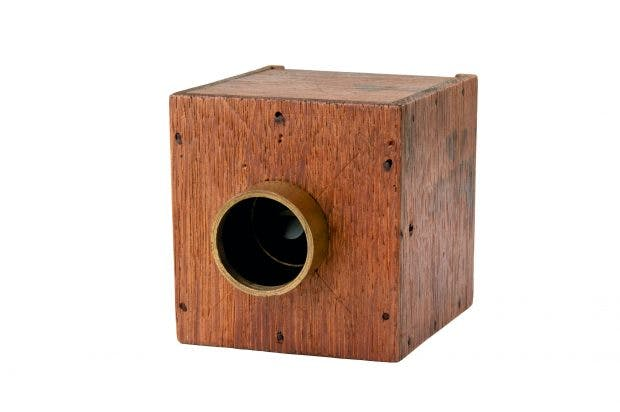 William Henry Fox Talbot's mousetrap camera (c. 1835).