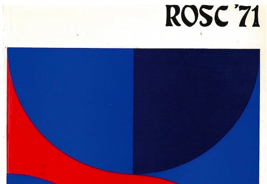 Front cover of the catalogue to accompany the ROSC '71 exhibition in Dublin