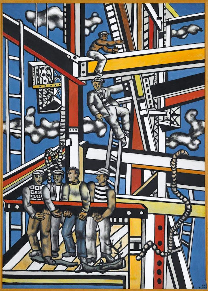 Les constructeurs (état définitif) (1950), Fernand Léger. Photo © RMN-Grand Palais (musée Fernand Léger)/Gérard Blot. © ADAGP, Paris, 2017