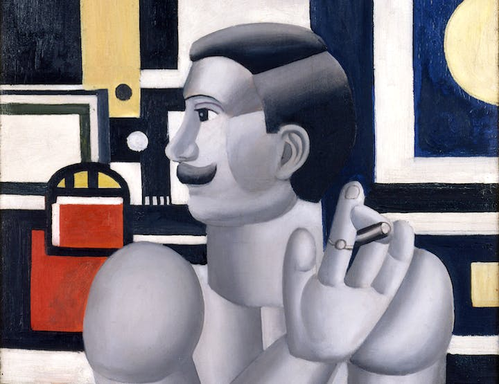 Le mécanicien (detail; 1918), Fernand Léger. Photo: Philip Bernard. © Adagp, Paris 2017