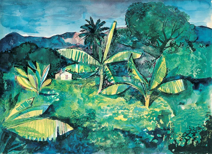 Landscape Near Kingston, Jamaica (1950), John Minton. © Royal College of Art