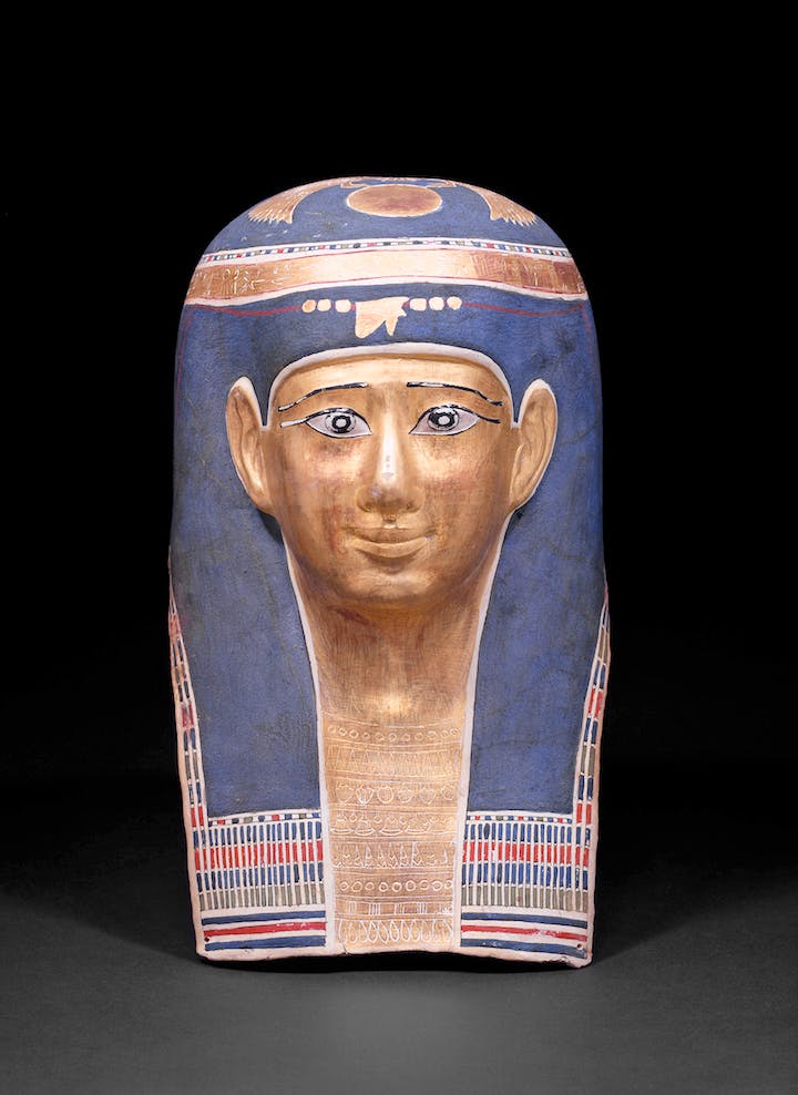 Mask of the Ta-Scherit-en-Hor, during the reign of Ptolemy (323–330 AD). © Egyptian Museum and Papyrus Collection, Staatliche Museen zu Berlin