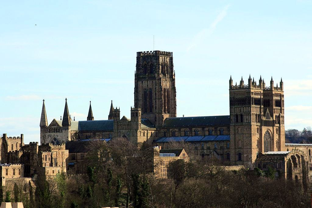 Durham Cathedral from the north-west.
