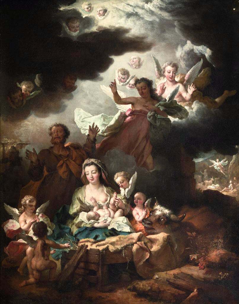 The Nativity, (c. 1730), Nicolas Largillière. Church of Saint-Sulpice, Paris