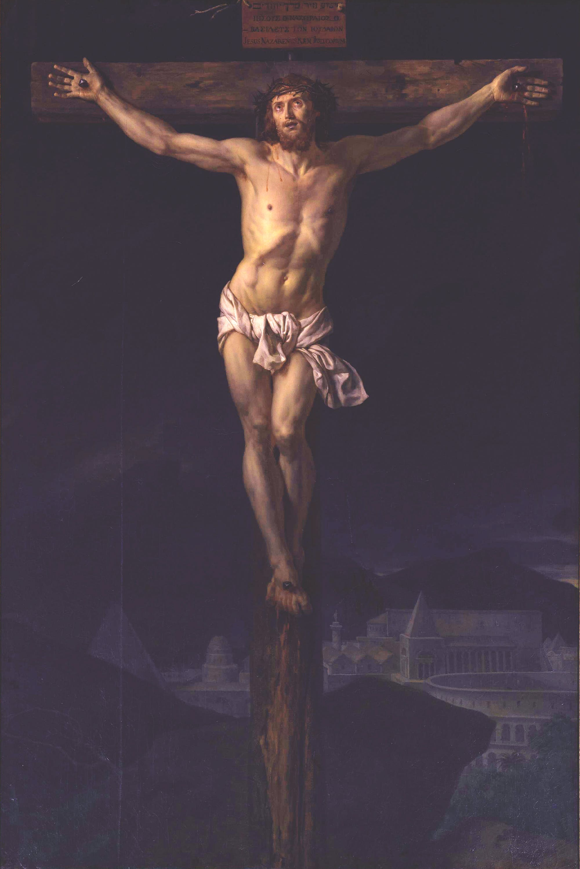 Christ on the Cross, (1782), Jacques-Louis David.