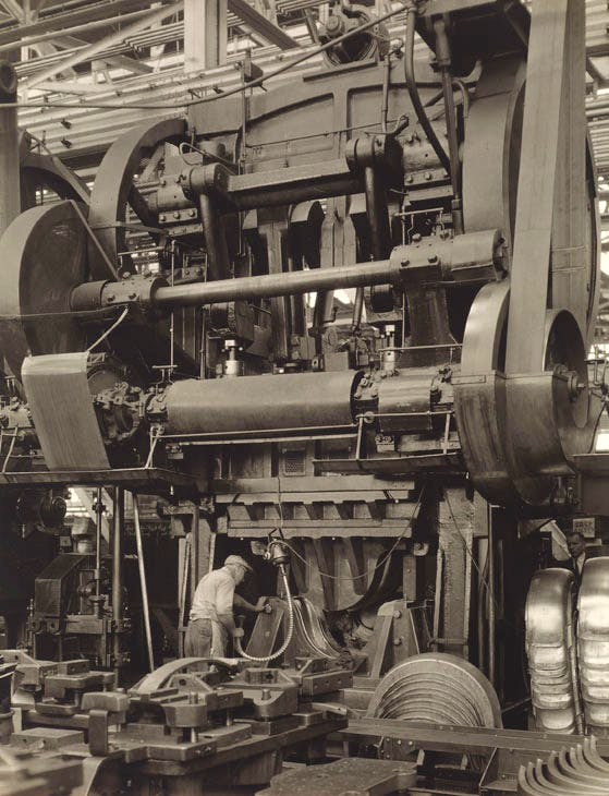 Ford Plant Stamping Press (1927), Charles Sheeler. Courtesy Museum of Fine Arts, Boston; © The Lane Collection