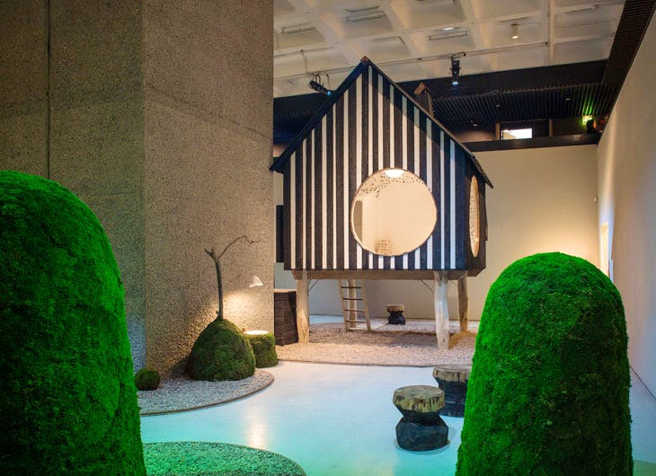 'The Japanese House: Architecture and Life after 1945', installation view at the Barbican Art Gallery, London. Photo: Ben Tynegate