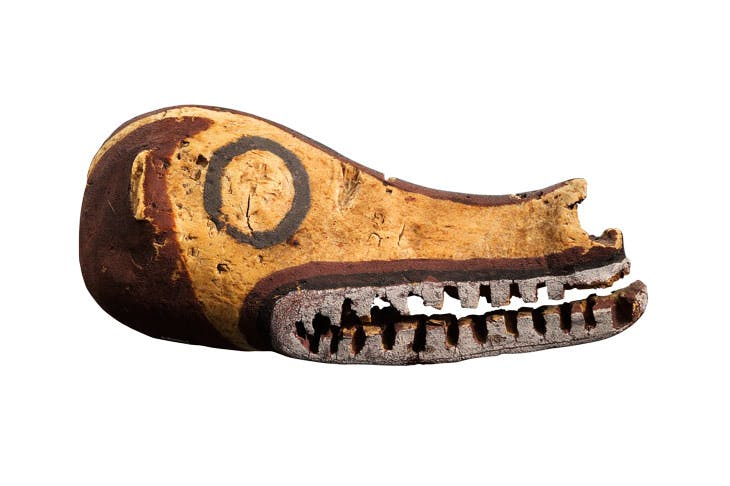 Dog Head (ganabi), 19th century, Gogodala people, Papuan Gulf. Voyageurs & Curieux, price on request
