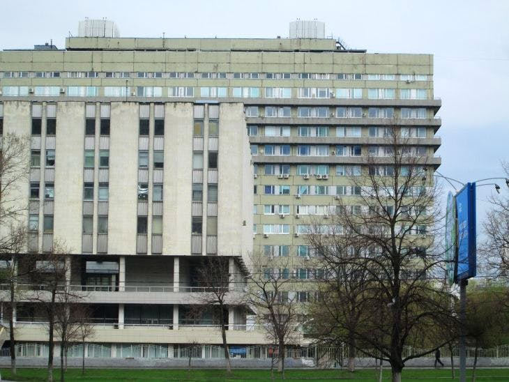 The first estate of its kind in the Cheryomushki district of Moscow.