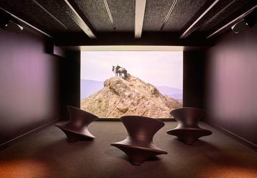 The Video Gallery at 21c Nashville. Photo: Mike Schwartz. Courtesy 21c Museum Hotels