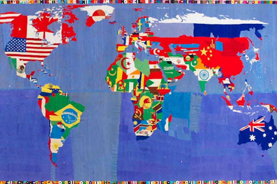 Mappa (1989-94), Alighiero Boetti. Courtesy Tornabuoni Art