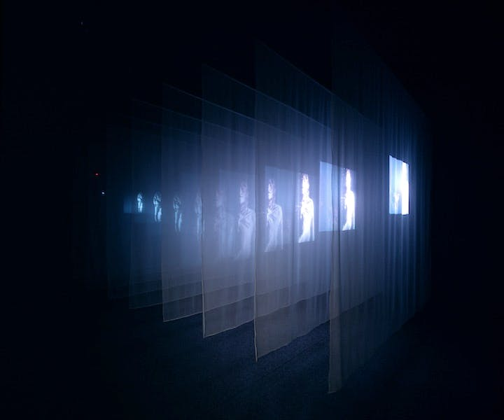 The Veiling (video installation; 1995), Bill Viola. © Bill Viola, Photo: Roman Mensing