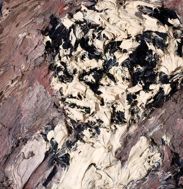 Head of Helen Gillespie (c. 1962–64), Frank Auerbach. On loan to the Ben Uri Collection from the collection of Richard and Julia Anson
