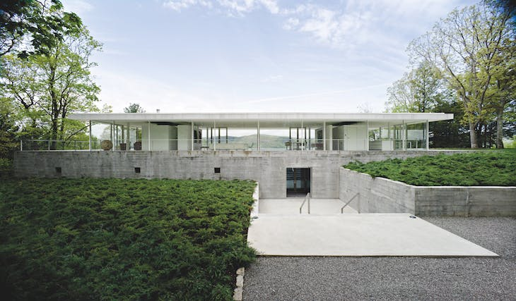 The Olnick Spanu house in the Hudson Valley, New York, designed by Alberto Campo Baeza and constructed in 2008
